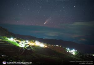 """สดร.เผยภาพ """"ดาวหางนีโอไวส์"""" อวดโฉมเหนือฟ้าเชียงใหม่-คืนนี้ใกล้โลกที่สุด"""