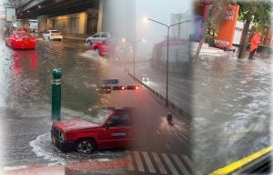 ฝนถล่ม กทม.รับอรุณ น้ำรอระบายหลายพื้นที่