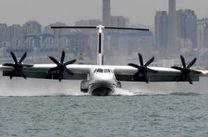 ชมคลิปจีนนำ 'AG600' เครื่องบินสะเทินน้ำสะเทินบกทะยานเหนือทะเลครั้งแรก