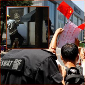 """In Clip: """"จีน"""" เข้าควบคุมสถานกงสุลสหรัฐฯในเฉิงตูหลังเลยเส้นตายวันนี้"""