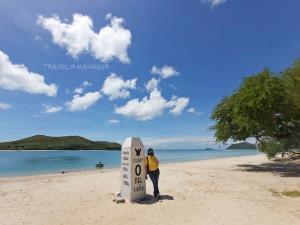 ถ่ายรูปกันบนหาดเทียน