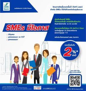 """""""ธพว."""" ออกซอฟต์โลน 3 พันล้านบาท ช่วย SMEs ที่ยังเข้าไม่ถึงสินเชื่อแบงก์"""