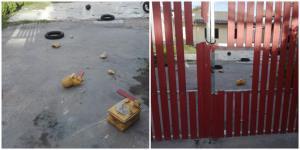 """ภาพ สภาพบ้าน """"โตโต้"""" ที่ถูกบุกรุกทำลาย จากเฟซบุ๊ก โตโต้ ปิยรัฐ - Piyarat Chongthep"""
