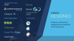 ผลิตภัณฑ์และโซลูชั่นในชื่อ Cisco Designed