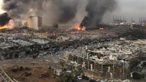 โกดังท่าเรือในเลบานอนระเบิด บ้านเรือนพังราบ บาดเจ็บอื้อ