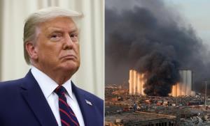 'ทรัมป์' ชี้เหตุระเบิดในเบรุตอาจเกิดจากการ 'โจมตี' ยันสหรัฐฯ พร้อมช่วยเหลือ