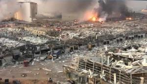 เผยคลิประเบิดมรณะ! สนั่นกลางกรุงเบรุต เสียชีวิตกว่า 70 ราย เจ็บอีก 4,000 คน
