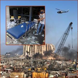 "In Clip: ยอดดับระเบิดเบรุตพุ่ง 100 ศพ นายกฯ เลบานอน ชี้มาจาก ""แอมโมเนียมไนเตรต"" 2,750 ตัน แรง 20% ของนิวเคลียร์บอมบ์ฮิโรชิมา"