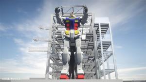 """ขยับได้! หุ่นยักษ์ """"กันดั้ม"""" ขนาดเท่าจริงตัวใหม่ประกอบเสร็จแล้ว"""