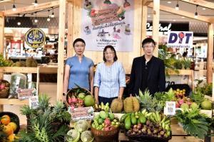 """กรมการค้าภายใน กระทรวงพาณิชย์ จับมือ เซ็นทรัล ช่วยเกษตรกรช่วง โควิค 19                                                                   จัดงาน """"ผล-ละ-ไม้ ผล-ละ-มือ"""" รณรงค์คนไทยอุดหนุนผลไม้ไทย"""