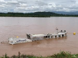 เกินกำลัง! เรือท่องเที่ยวไทยยังจมน้ำโขง น้ำแรง-หนักเกิน ต้องขอ ทร.ช่วยด่วนแล้ว