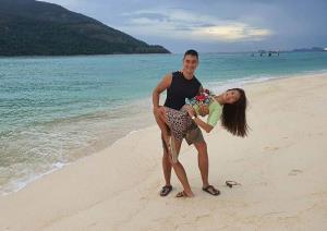 """คู่ซ้อมตัวจริง """"ม.ล.วราภา ชุมพล"""" อดีตนักกีฬาลีลาศทีมชาติไทย โชว์ลีลาเด็ดกับแฟนหนุ่มหล่อ"""