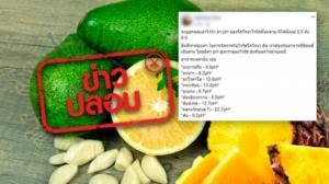 ข่าวปลอม! ฆ่าเชื้อโควิด-19 ด้วยการกินผลไม้ที่มีฤทธิ์เป็นด่าง