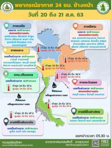 ระวังอันตราย! ร่องมรสุมทำไทยตอนบนฝนเพิ่มขึ้น-ตกหนักบางแห่ง เตือนอาจเกิดน้ำป่า-น้ำท่วมฉับพลัน