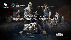 เอเซอร์ประกาศเป็นผู้สนับสนุนอย่างเป็นทางการในศึก PUBG Continental Series 2 APAC