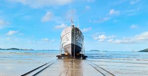 กองทัพเรือเคลื่อนย้ายเรือตรวจการณ์ใกล้ฝั่ง ต.91 สู่พื้นที่อุทยานประวัติศาสตร์ฯ