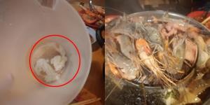 หนุ่มโวย! กินหมูกระทะร้านดังสิงห์บุรี เจอกระดาษทิชชูในน้ำซุป ด้านเจ้าของร้านยินดีรับผิดชอบ (ชมคลิป)