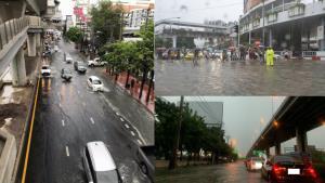 ฝั่งธนอ่วม! ฝนกระหน่ำตั้งแต่เช้ามืด ถนนบรมฯ-ถนนเพชรเกษม-หน้าเดอะมอลล์บางแค น้ำท่วมขัง การจราจรล่าช้า