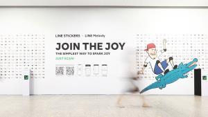เปิดโปรเจกต์ LINE เปลี่ยนอุโมงค์รถใต้ดิน เป็น Art Gallery จัดแสดง LINE Stickers