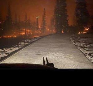 ใช้เฮลิคอปเตอร์ทหารขนนักท่องเที่ยวกว่า 200 หนีไฟป่าที่ลุกลามล้อมพื้นที่พักผ่อนยอดนิยมในแคลิฟอร์เนีย