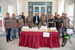 ตำรวจยโสธรจับบิ๊กล็อตยาบ้า 160,000 เม็ด กัญชาแท่ง 5 กก.