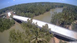 เปิดสัญจรแล้ว สะพานข้ามคลองราง อ.พุนพิน จ.สุราษฏร์ฯ