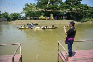 ท่าน้ำวัดโบสถ์ชนะมาร สถานที่จัดพิธีอุ้มพระดำน้ำในปัจจุบัน