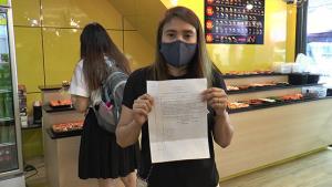 ป้ามหาภัยหลอกร้านซูชิให้แลกเหรียญไว้ทอนลูกค้าสูญเงิน 13,000 บาท