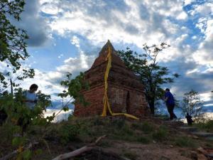 พบภาพวาดฝาผนังเจดีย์ร้างอายุกว่า 200 ปี บนยอดดอยเมืองตาก-ชัยภูมิส่องข้าศึกทางเดินทัพพม่า