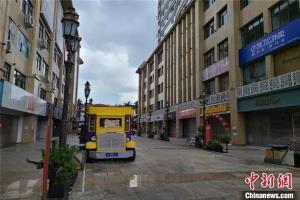 """บรรยากาศภายในเมืองรุ่ยลี่ กลายเป็นเมืองร้างวังเวงหลัง """"ล็อกดาวน์"""" (ภาพ ไชน่านิวส์)"""
