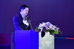 ศุภชัย เจียรวนนท์ ประธานคณะผู้บริหาร เครือเจริญโภคภัณฑ์ (ซีพี) ในฐานะนายกสมาคมเครือข่ายโกลบอลคอมแพ็กแห่งประเทศไทย ก