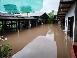น้ำป่าภูกระดึงไหลบ่าลงน้ำพองเอ่อท่วมไร่นา-บ้านเรือน ถนนบางสายขาด
