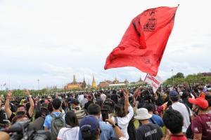 ภาพ บรรยากาศการชุมนุม หลังบุกยึดสนามหลวง
