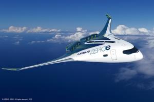 """เครื่องบินแบบ """"blended-wing body"""" ที่ตัวถังของเครื่องกับปีกผสานเป็นชิ้นเดียวกัน"""
