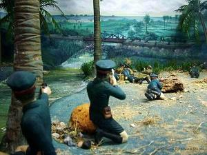 ภาพเขียนแสดงเหตุการณ์ที่สะพานท่านางสังข์