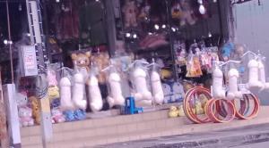 """โซเชียลแชร์ว่อน! ร้านริมวัดใหญ่ขนหมอน """"ปลัดขิก"""" ตั้งขายโจ๋งครึ่ม"""