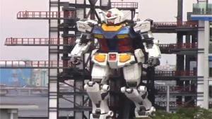 """ทำได้จริง! ญี่ปุ่นทดสอบหุ่นยนต์ยักษ์ """"กันดั้ม"""" ขยับตัวได้แล้ว (ชมคลิป)"""