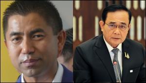 (ซ้าย) พล.ต.ท.สุรเชษฐ์ หักพาล ที่ปรึกษาประจำสำนักนายกรัฐมนตรี (ขวา) พล.อ.ประยุทธ์ จันทร์โอชา นายกรัฐมนตรีและรัฐมนตรีว่าการกระทรวงกลาโหม