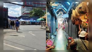 """โซเชียลแห่แชร์! ภาพ """"ตลาดนัดจตุจักร"""" ร้างแทบไร้ผู้คน หลังไม่มีนักท่องเที่ยวต่างชาติ"""