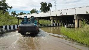เตรียมดันแผนปรับปรุงทางกลับรถใต้สะพานถนนสายเอเชีย หลังน้ำท่วมขังซ้ำซาก