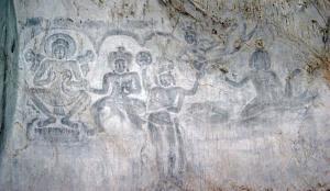 ภาพสลักนูนต่ำ ถ้ำพระโพธิสัตว์ จ.สระบุรี(แฟ้มภาพ)