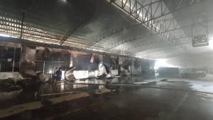 เกิดเหตุไฟไหม้โรงงานผลิตยากันยุงวอดทั้งหลัง คาดเสียหายกว่า 1 ล้านบาท