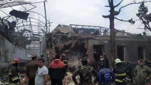 สงครามชิง 'คาราบัค' ทำท่าบานปลาย  เมืองใหญ่อันดับ 2 ของ 'อาเซอร์ไบจาน'ถูกถล่ม  เชื่อว่าฝีมือ 'อาร์เมเนีย'