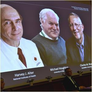 """In Clip:  3 นักวิทยาศาสตร์อเมริกัน-อังกฤษ ค้นพบ """"ไวรัสตับอักเสบ C"""" ชนะรางวัลโนเบลสาขาการแพทย์"""