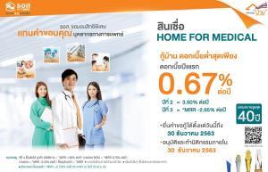 """ธอส.เตรียม 1,000 ลบ.ดูแลบุคลากรทางการแพทย์ กับสินเชื่อ """"HOME FOR MEDICAL"""" Fix ปีแรก 0.67% ต่อปี"""