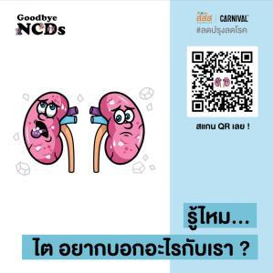 """สื่อเรียนรู้ Goodbye NCDs ลดหวานมันเค็มป้องกันโรค เช็ก """"ไต หัวใจ หลอดเลือด"""" ง่ายๆ ผ่าน QR Code"""