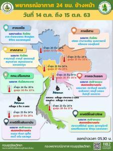 อุตุฯ เตือนวันนี้ อีสานตอนบน-ตะวันออก-ใต้ ฝนถล่มหนัก-คลื่นทะเลสูง กทม.โดนร้อยละ 60
