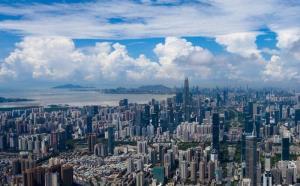 ขนาดเศรษฐกิจเซินเจิ้นแซงหน้าฮ่องกงเป็นครั้งแรกในปี 2018 บ่งชี้ว่าฮ่องกงถูกเซินเจิ้น เบียดตกบัลลังก์จ้าวศูนย์การเงินแห่งแดนใต้จีนที่ครองมานาน ในภาพเมืองเซิ้นเจิ้นในปัจจุบัน (แฟ้มภาพซินหัว)