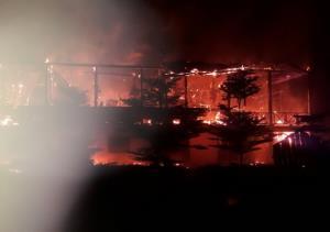 ไฟไหม้อาคารโรงเรียนบ้านขุมขี้ยางกลางดึกวอดทั้งหลัง เร่งหาสาเหตุ