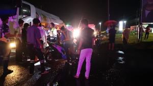 รถน้ำมันปาล์มลื่นไถลเหยียบเด็ก 5 ขวบดับคาที่ บนถนนเพชรเกษม ประจวบฯ